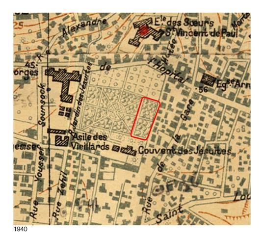 Le jardin des Jésuites - 1940